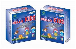 Khẩu Trang Em Bé Hello KIDS - 3D Màu Xanh